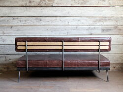 モリードフラットソファヴィンテージライクレザー革を贅沢に使用したソファ
