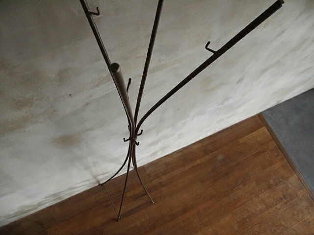 iron pole hanger アイアン/ポールハンガー (クリアー)送料無料