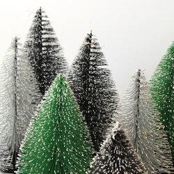 クリスマスツリー卓上『クリスマスLEDミニツリーBタイプ』北欧Xmasミニクリスマス装飾おしゃれ北欧インテリアシンプルデコレーション店舗ディスプレイモノトーン緑置物シックLEDライト光るアデペシュ2019aw『予約受付中』