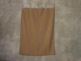 THE STRIPES カーテン/スロウ 105×135 ベージュ×インディゴ ソファーカバー、ベッドカバー、テーブルクロスとしても使えるカーテン