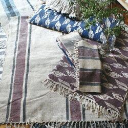 ラグマット140x200『シャニールラグ1400』おしゃれ1.5畳送料無料綿ポリエステルストライプシンプル絨毯リビングマットフリンジモダンアジアンインドモロカンエスニックアデペシュ2019aw『予約受付中』