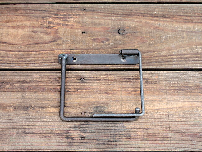 iron paper holder(S) アイアン ペーパーホルダー(S) クリア DIY アイアンのちょっと変わったペーパーホルダー アデペシュ