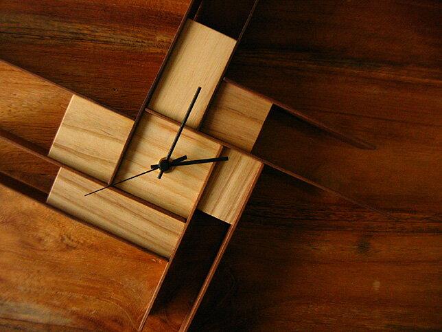 『受注生産』時計/KAY6 (ウォールナット/アッシュ)送料無料