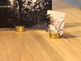 BRASS カードスタンド ランプ ラウンド 真鍮製の丸いカードスタンド 小物ディスプレイ