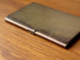 ブラスカードケース(錆)真鍮無垢で作られたシンプルなカードケース 日本製