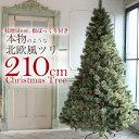 北欧 クリスマスツリー 210cm おしゃれ ヌードツリー もみの木 2019年 枝増量バージョン 松ぼっくり付き 2.1m 単品 【…