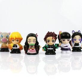 きめつの刃 すくい人形 6個セット 鬼滅の刃 人形すくい 人気キャラクター 6種入り ソフビ フィギュア 毀滅の刃 フィギア おもちゃ 祭り 模擬店 屋台