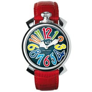 GAGAMILANO5020.2MANUALE40MMガガミラノマヌアーレ40ユニセックスクオーツ腕時計レザーステンレスレッド×マルチ