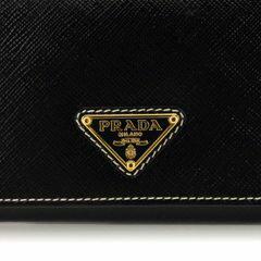 PRADA1M1132-2AO6-F0002SAFFIANOVERNICNEROプラダ二折長財布