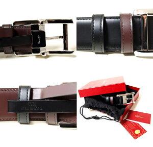 CARTIERL5000335カルティエベルトリバーシブルメンズベルトブラック×ブラウン