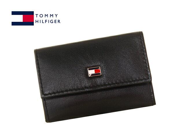 TOMMY HILFIGER 31TL17X002-BLACK(94-4510-01)トミーヒルフィガー6連キーケース ブラック