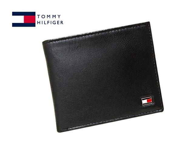 TOMMY HILFIGER96-4511-01-BLACK(31TL25X003-BLACK)トミーヒルフィガー 二折財布ブラック