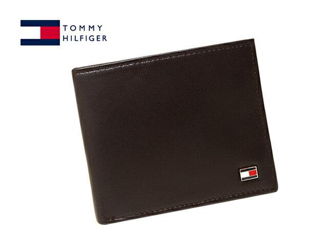 TOMMY HILFIGER31TL25X003-BROWN(96-4511-02-BR)トミーヒルフィガー二折財布 ブラウン