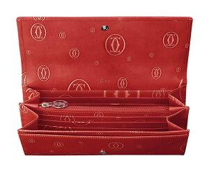 CARTIERL3001252ハッピーバースデイ12クレジットカードマチ付インターナショナルワレットカルティエ長財布カーフスキンレッドポピー