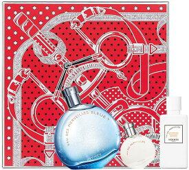 HERMES EAU DES MERVEILLES BLEUEFETES EN HERMES 2018 GIFT SET【海外限定品】エルメス オーデ メルヴェイユ ブルーフェット アン エルメス 2018 スペシャル ギフトセットホリデーシーズン クリスマスパッケージスリーブ 《 エプロン・ドール 》
