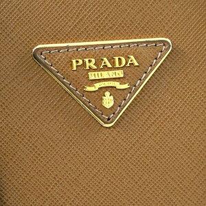 PRADA1BA896-NZV-F098LSAFFIANOLUXCARAMELプラダショルダーバッグキャメル×ゴールド