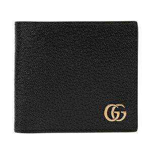 GUCCI428725-DJ20T-1000グッチ二折小銭財布レザーブラック×ゴールド