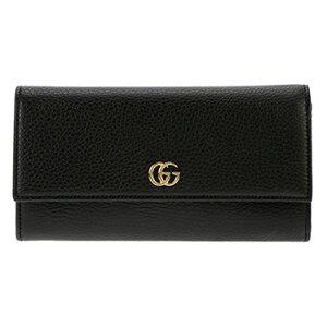 GUCCI456116-CAO0G-1000グッチホック長財布レザーブラック×ゴールド