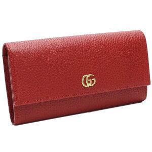GUCCI456116-CAO0G-6433グッチホック長財布レザーレッド×ゴールド