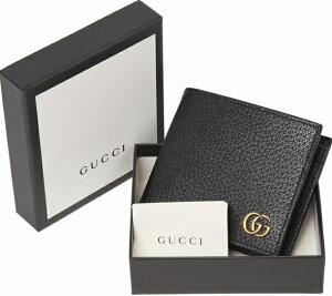 GUCCI428725-DJ20T-1000GGMARMONTグッチ二折小銭財布GGマーモントカーフレザーブラック×アンティークゴールド
