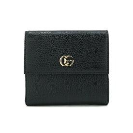 c271565f9f38 GUCCI 456122-CAO0G-1000グッチ Wホック財布レザーブラック×ゴールド