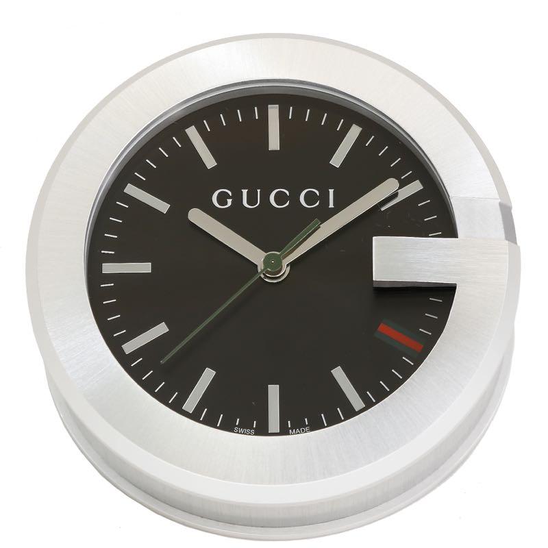 GUCCI YC210004 グッチ テーブルウォッチステンレス 置時計シルバー×ブラック※取寄品