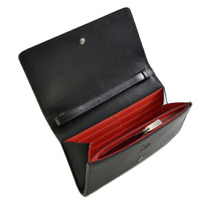 ChristianLouboutin3155062-BLACKクリスチャンルブタンラウンドファスナー小銭財布レザーBLACK×RED