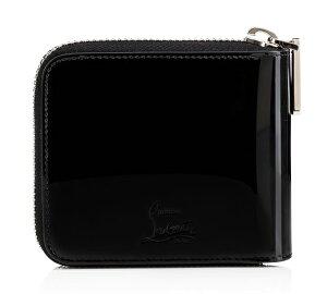 ChristianLouboutin1165049-B105クリスチャンルブタンラウンドファスナー財布レザーブラック×マルティコメタル×レッド