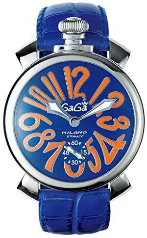 GAGAMILANO5010.09SMANUALE48MMガガミラノマヌアーレ48ユニセックス手巻き腕時計レザーステンレスパープル×マルチカラー