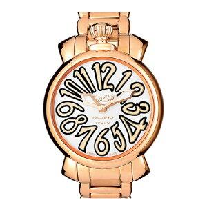 GAGAMILANO6021.1MANUALE35MM18KPVDガガミラノマヌアーレ35ユニセックスクオーツ腕時計ステンレスピンクゴールド×ホワイト