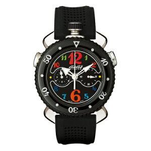 GAGAMILANO7010.02CHRONOSPORTS45MMガガミラノクロノスポーツ45ユニセックスクオーツ腕時計シリコンラバーステンレスブラック×マルチカラー