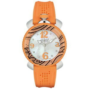 GAGAMILANO7020.05LadySport40mmガガミラノレディスポーツ40ユニセックスクオーツ腕時計シリコンラバーステンレスオレンジ×ホワイトシェル