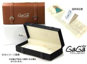 GAGAMILANO5015MANUALE48MMガガミラノ腕時計マヌアーレステンレスレザーベルトブラック×マルチ