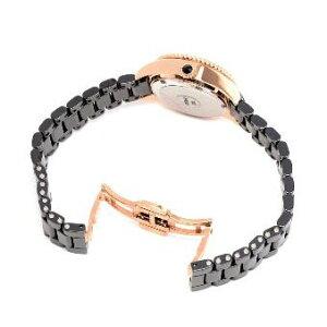 FOLLIFOLLIEWF13B018BSKLOVETIMEレディース腕時計ステンレスセラミックベルトゴールド×ブラック