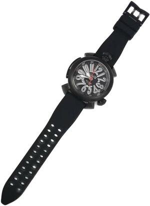 GAGAMILANO5042DIVING48MMガガミラノダイビング自動巻腕時計ねじ込み式リューズヘリウムガスエスケープバルブ回転ベゼルチタンケースシリコンラバーベルト(アレルギーフリー)ブラック×グレー×赤秒針