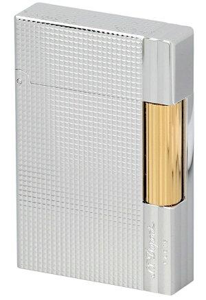 S.T.Dupont18144GATSBYNEWCOLLECTIONエス・テー・デュポンガスライターギャツビーニューコレクションゴールド×シルバー(パラジウムメッキ仕上げ)※対応ガス/グリーンラベル