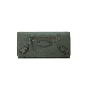 BALENCIAGA390184-AQ40T-1110バレンシアガ二折長財布レザーグレイ