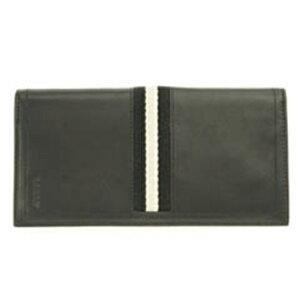 BALLYTALIRO/290バリー長財布レザーブラック×ブラック×ホワイト