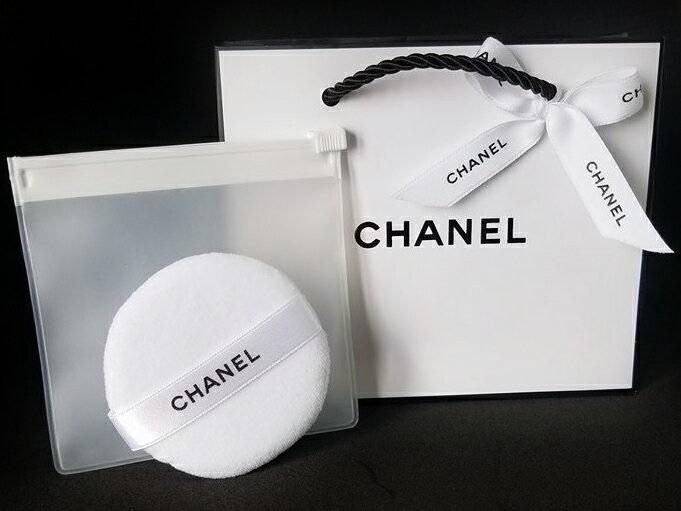 CHANEL POWDER PUFFシャネル パウダーパフ クリアケース付シャネル リボン&ショップバッグ※ご注意この商品はラッピングできませんのでご了承ください。
