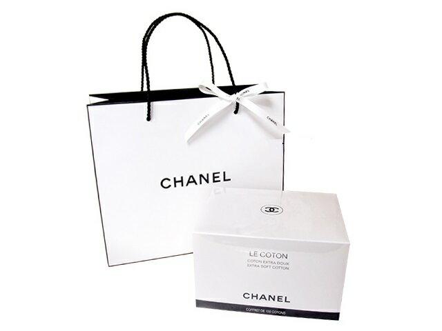 CHANEL LE COTONシャネル コットンロゴ入りオーガニックコットン 100枚入オリジナルショップバッグ&リボン※この商品は4個につき送料が掛かります。ラッピング不可