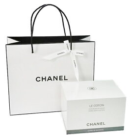 CHANEL LE COTONシャネル コットンロゴ入りオーガニックコットン 100枚入オリジナルショップバッグ&リボン※ラッピング不可