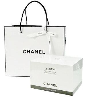 CHANELLECOTONシャネルコットンロゴ入りオーガニックコットン100枚入オリジナルショップバッグ&リボン※この商品はラッピングできませんのでご了承ください。