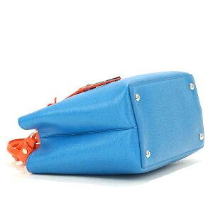 FENDI8BH253-67N-F077Lフェンディ2WAYバッグレザーブルー×マルチカラー