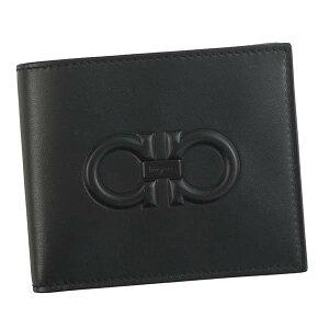 SalvatoreFerragamo66A241-6940937-BKサルヴァトーレフェラガモ二折小銭財布レザーブラック※取寄品