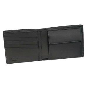 SalvatoreFerragamo669907-604762フェラガモ二折小銭財布ブラック