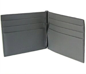 BOTTEGAVENETA123180-VBD51-8885ボッテガヴェネタマネークリップ付二折財布イントレチャートレザーニューライトグレー