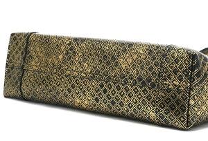 BOTTEGAVENETA298780-VX740-8414INTRECCIOMIRAGEボッテガヴェネタイントレッチオミラージュレザートートバッグゴールド×ブラック