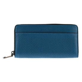 82a21fae86ff COACH F75222-DENコーチ ラウンドファスナー長財布ブルー系×ブラック