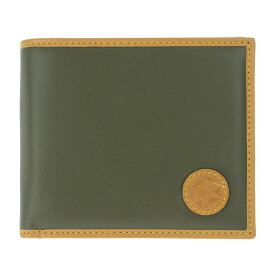 HUNTING WOLRD 310-10A BATTUE ORIGINハンティングワールド 小銭入付二折財布バチュークロス×レザーグリーン×キャメル