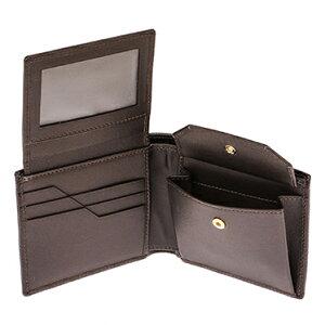 HUNTINGWOLRD575-2233TAHOELEATHERハンティングワールド二折小銭財布パスケース付レザーブラウン